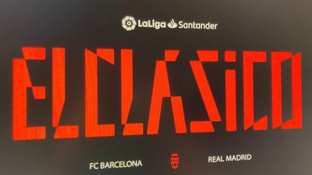 Clásico Barcelona vs Real Madrid tendrá su propio logo